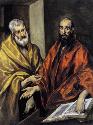 Saints Peter and Paul, El Greco, 1605-08, Oil on canvas, 124 x 93,5 cm, Nationalmuseum, Stockholm